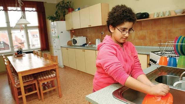Byt pro děti se sluchovým postižením Jablíčko v centru Hradce Králové.
