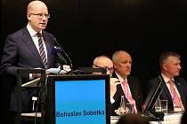 Mezi hosty konference patřil premiér ČR Bohuslav Sobotka.