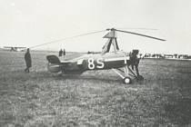 Autogyro (letadlo se dvěma vrtulemi, bez křídel), typ HK C 30.