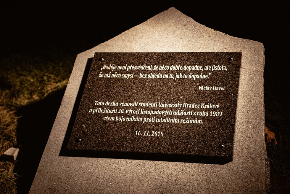 Oslavy 30. výročí od sametové revoluce v Hradci Králové.