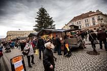 Vánoční trhy na Masarykově náměstí v Hradci Králové.