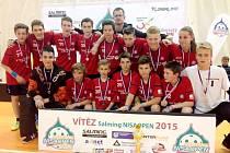 Vítěz Nisa Open 2015 - celek starších žáků FbC Předměřice nad Labem.