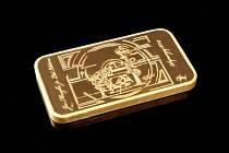 Ukradená zlatá cihla.