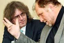 Bohumil Kulínský a jeho obhájce Tomáš Sokol