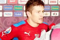 Fotbalista české reprezentace Václav Pilař.