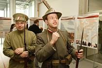 Výstava s legionářskou tématikou v královéhradecké městské knihovně.