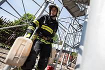 Soutěž hasičů v disciplínách TFA na Chlumu.