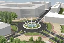 Tak by mohla v horizontu dvou až tří let vypadat křižovatka u Koruny. Měla by se začít stavět v souladu se vznikem nového obchodního centra.
