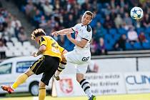 Fotbalová národní liga: FC Hradec Králové - MFK OKD Karviná.