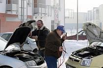 Hradec Králové zasáhly 27. ledna 2010 silné mrazy, teplota klesla až na – 24 stupně.