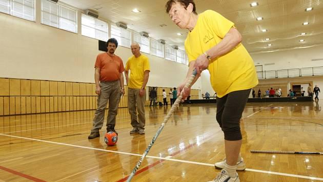 Sportovní klání lidí trpících Parkinsonovou nemocí v Předměřicích nad Labem.