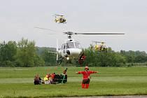 European Helicopter Show na letišti v Hradci Králové.