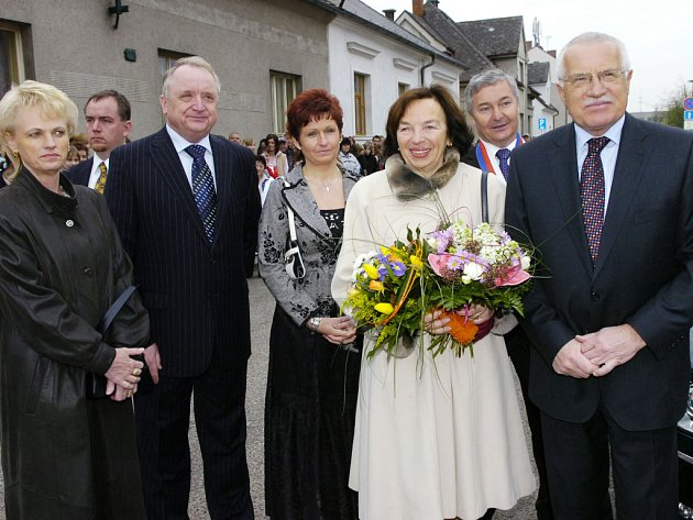Prezidentský pár v Chlumci