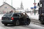 Nehoda u Jaroměře ve čtvrtek 28. ledna 2010.