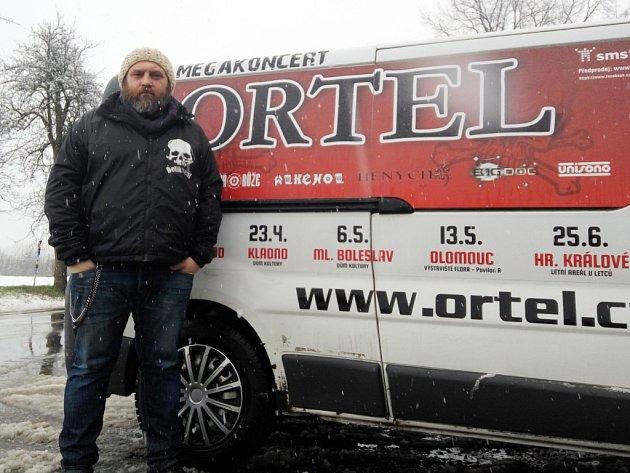 Libor Šíba, promotér Ortelu.