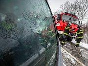 Královéhradecký kraj zasáhlo silné sněžení.