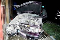 Havárie osobního automobilu v Nechanicích.