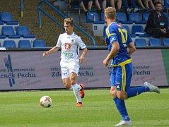 Duel v Jihlavě v 8. kole fotbalové FORTUNA:NÁRODNÍ LIGY rozhodl ve prospěch Hradce Adam Vlkanova.