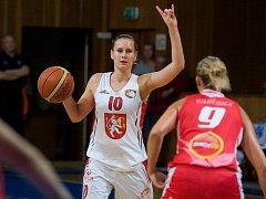 Ženská basketbalová liga: Hradec Králové - Slavia Praha.