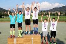 Stupně vítězů soutěže družstev kategorie U13.