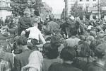 Vítání Rudé armády v Novém Bydžově 10. května 1945