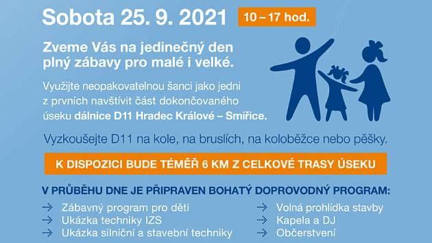 Pozvánka na Den otevřených dveří na dálnici D11.