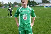 Fotbalista královéhradecké Olympie Tomáš Musil.