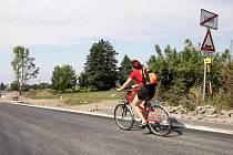 Rekonstrukce silnice mezi Lubnem a Nechanicemi na Královehradecku probíhala 2. září 2009.
