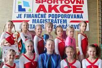 Sportovní gymnastky z Hradce Králové.