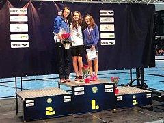 Lýdie Štěpánková na mistrovství České republiky v plavání.