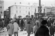Listopad 1989 v Hradci Králové, Žižkovo náměstí