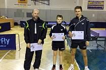 Nejlepší hráči dvouhry - zleva: Pavel Cibor (2. místo), Adam Hušek (1. místo) a Vojtěch Koubek (3. místo).