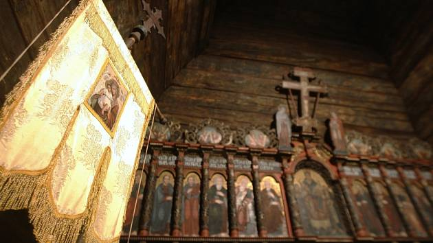 Den evropského dědictví v dřevěném pravoslavném kostele svatého Mikuláše v Jiráskových sadech v Hradci Králové.