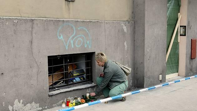 Dům ve Střelecké ulici poničený výbuchem plynu