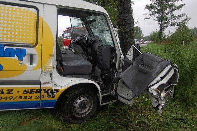 Dopravní nehoda v Třebechovicích