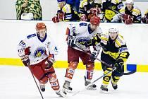 Krajská hokejová liga: SK Třebechovice pod Orebem - Stadion Nový Bydžov.