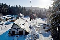 Ski centrum Říčky v Orlických horách.
