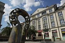 Fontána na Baťkově náměstí v Hradci Králové.