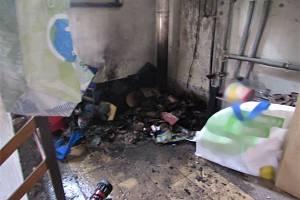 Požár domu v Hradci Králové
