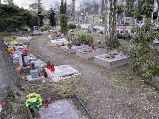 Hřbitov vTřebechovicích pod Orebem.