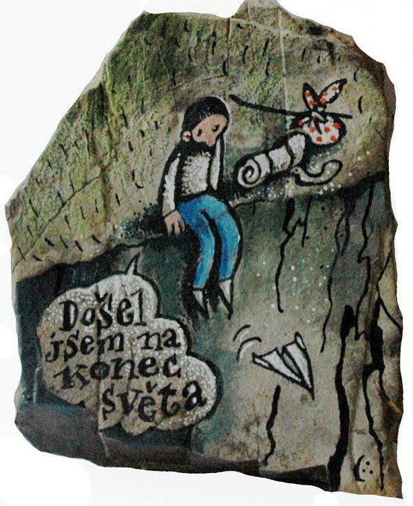 Omalovaný kamínek: Pavel Čech.