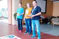 Členové kroužku RC Auta na závodech v Teplicích.