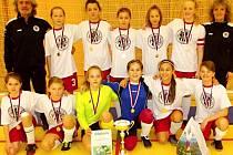 Mladší žákyně FC Hradec Králové.