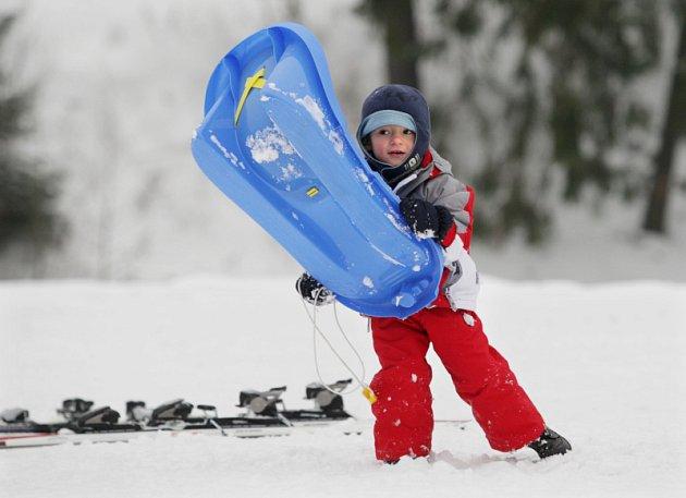 Dobré sněhové podmínky  nabízí skiareál Svatý Petr ve Špindlerově Mlýně.