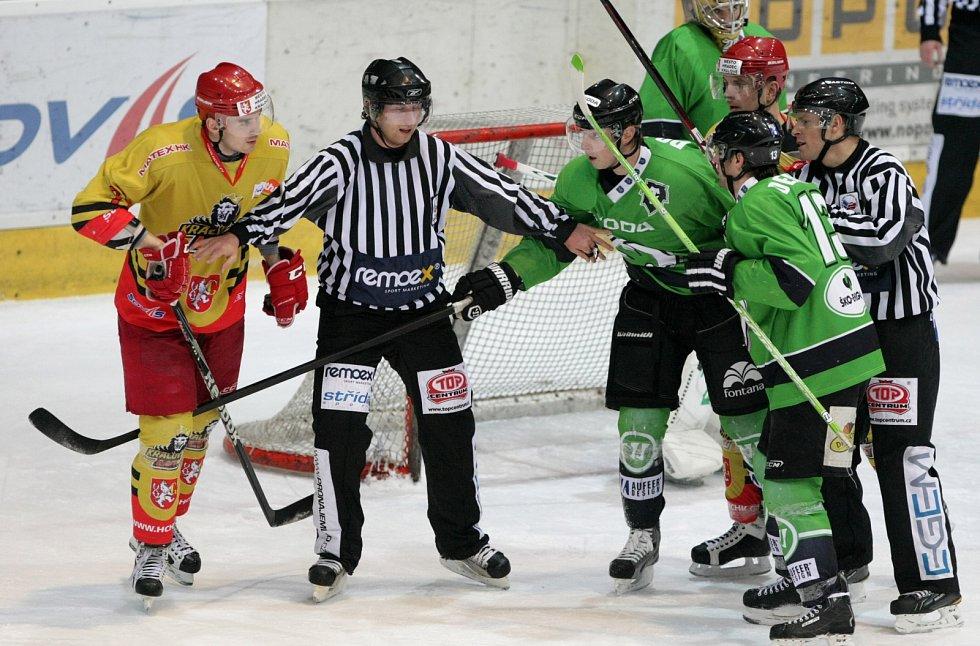 I. hokejová liga: Královští lvi Hradec Králové - BK Mladá Boleslav.