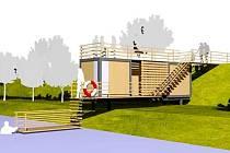 Po horké sauně se budete moci zchladit ve studené vodě řeky Orlice.