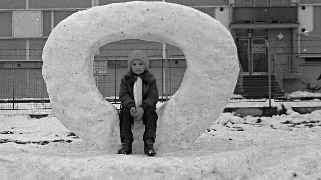 Sněhové sochy.