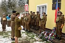Vzpomínkový akt k 73. výročí příchodu paraskupiny Barium do Žamberka - Polska.