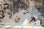 Ukázka slaňování královéhradeckých hasičů