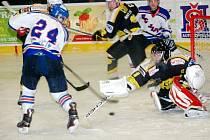 Krajská hokejová liga: HC Jičín - Stadion Nový Bydžov.